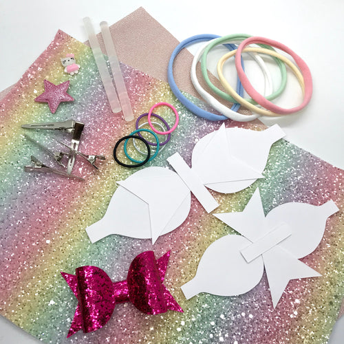 Hair Bow Making Starter Kit - Crafty Bear Craft Supplies & Glitter Fabric