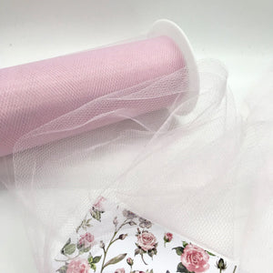 Tulle Baby Pink - Crafty Bear Craft Supplies & Glitter Fabric