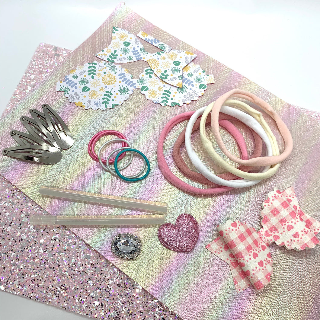 Scalloped Bow Making Starter Kit - Crafty Bear Craft Supplies & Glitter Fabric