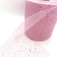 "Load image into Gallery viewer, Tulle 6"" Baby Pink Glitter - Crafty Bear Craft Supplies & Glitter Fabric"