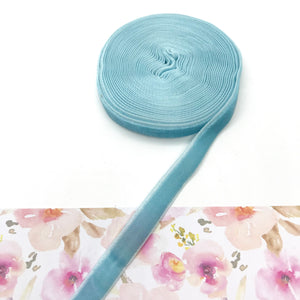 Velvet Ribbon Baby Blue - Crafty Bear Craft Supplies & Glitter Fabric