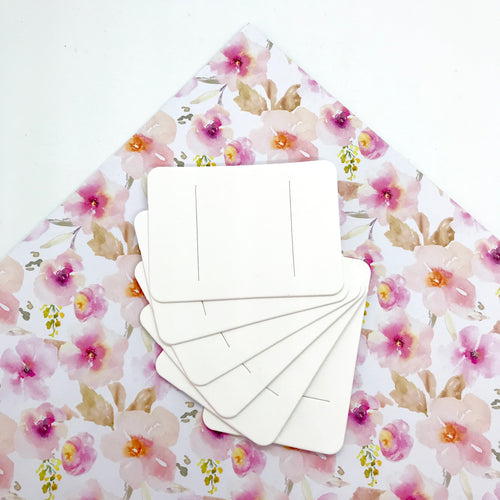 Bow Cards - White x10 - Crafty Bear Craft Supplies & Glitter Fabric