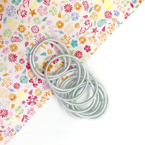 3cm White Elastic Bobbles - Crafty Bear Craft Supplies & Glitter Fabric