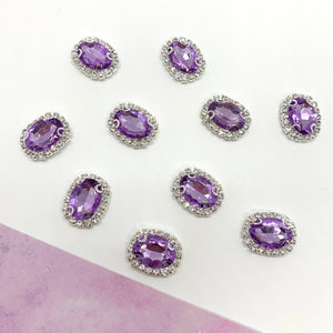 Gemstone Embellishment Purple - Crafty Bear Craft Supplies & Glitter Fabric