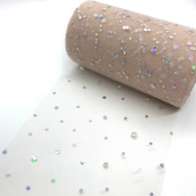 "Load image into Gallery viewer, Tulle 5.2"" Blush Gem - Crafty Bear Craft Supplies & Glitter Fabric"