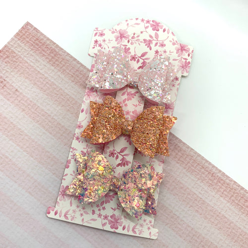 Bow Display Cards -Floral 6 Inch x10 - Crafty Bear Craft Supplies & Glitter Fabric