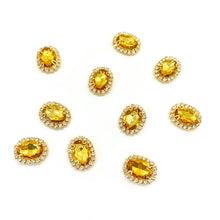 Load image into Gallery viewer, Gemstone Embellishment Gold - Crafty Bear Craft Supplies & Glitter Fabric