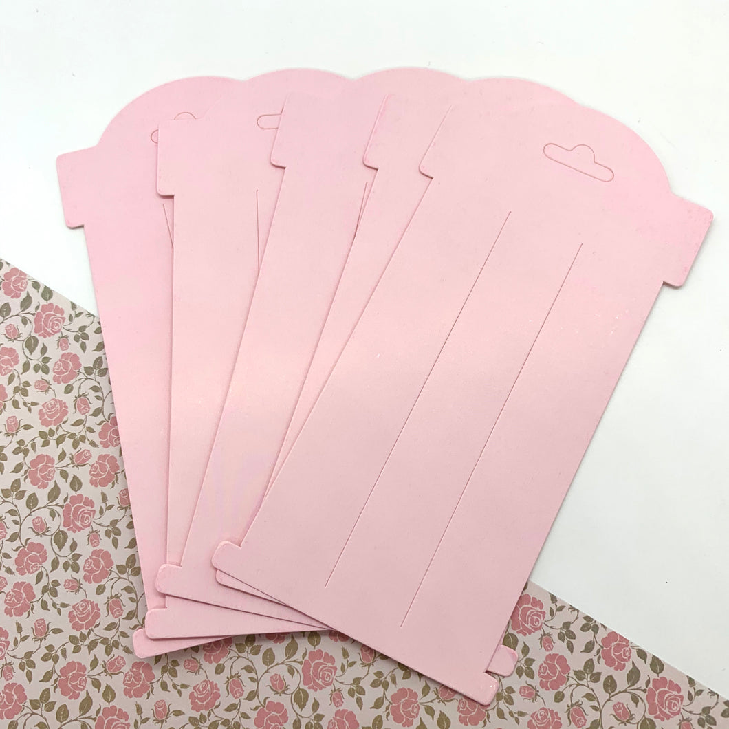 Bow Cards - Baby Pink 6 Inch x10 - Crafty Bear Craft Supplies & Glitter Fabric