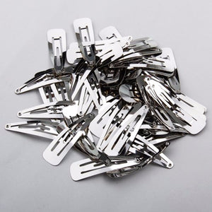 Clips - 50mm Silver Snap Clips x20 - Crafty Bear Craft Supplies & Glitter Fabric