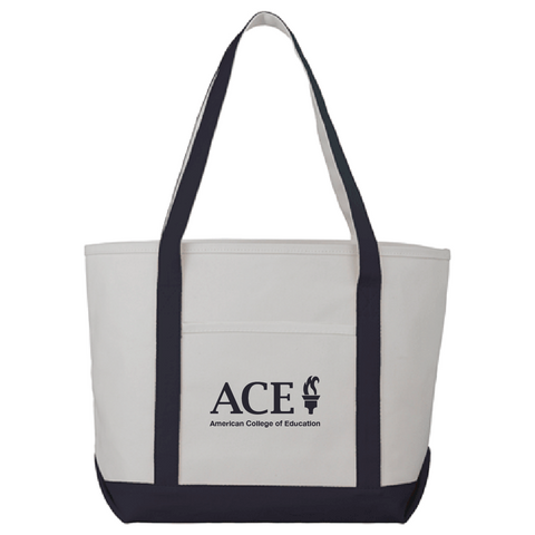 Cotton Canvas Boat Tote