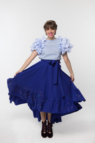 Dahlia Skirt Indigo Blue