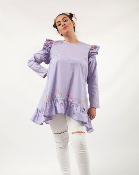 Lilly Long Sleeve Tunic Purple