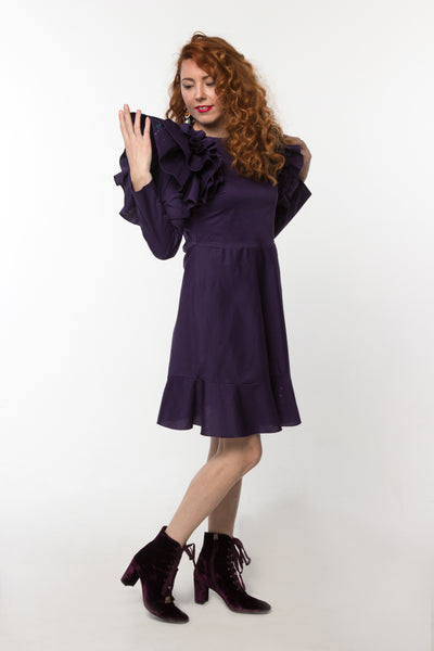 Camellia Dress Purple