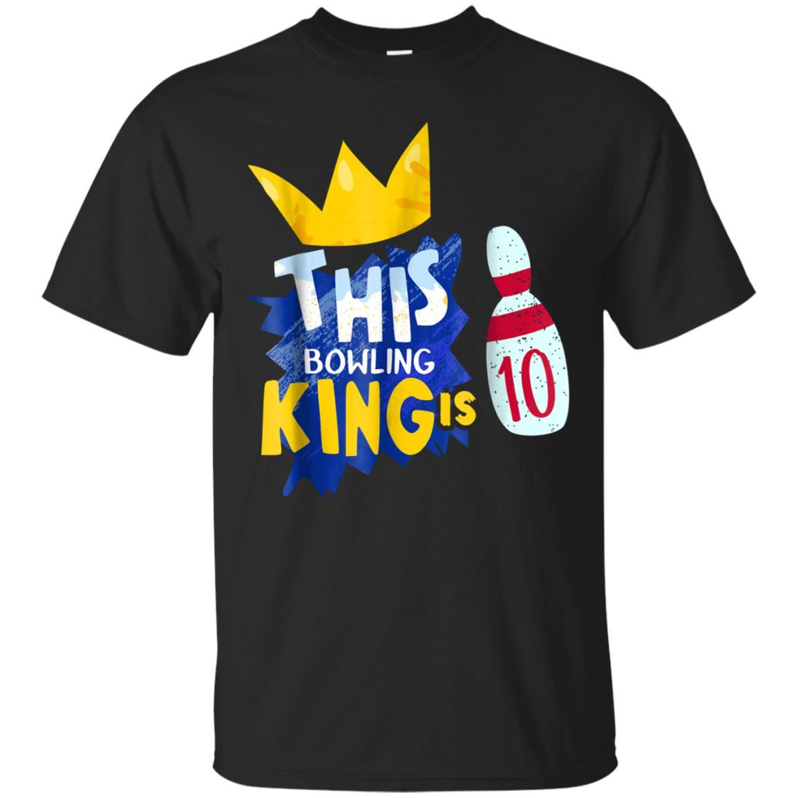 10 Year Old Kids Bowling Birthday Party 10th Shirt