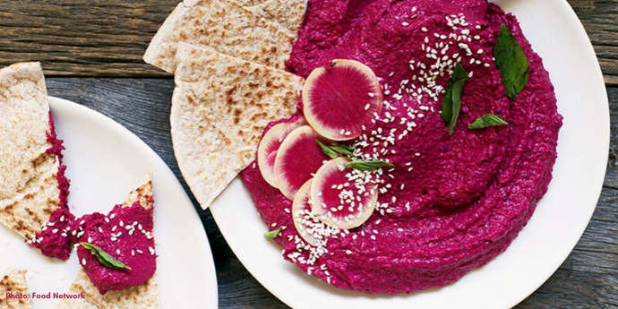 The Creamiest Beet Hummus Ever