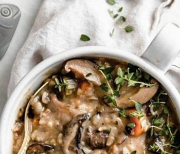 Iron-Enriched Wild Rice Mushroom Soup