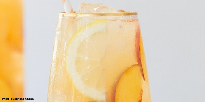 Iron-Enriched Peach Lemonade