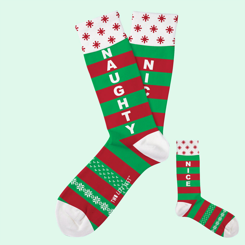 Naughty or Nice Christmas Socks
