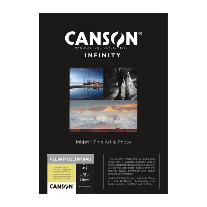 Canson Infinity Velin Museum Rag Roll Paper 315gsm