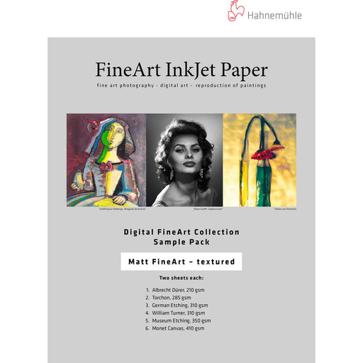 "Hahnemuhle Matte Textured FineArt Inkjet Paper Sample Pack - 8.5 x 11"" (10 Sheets)"