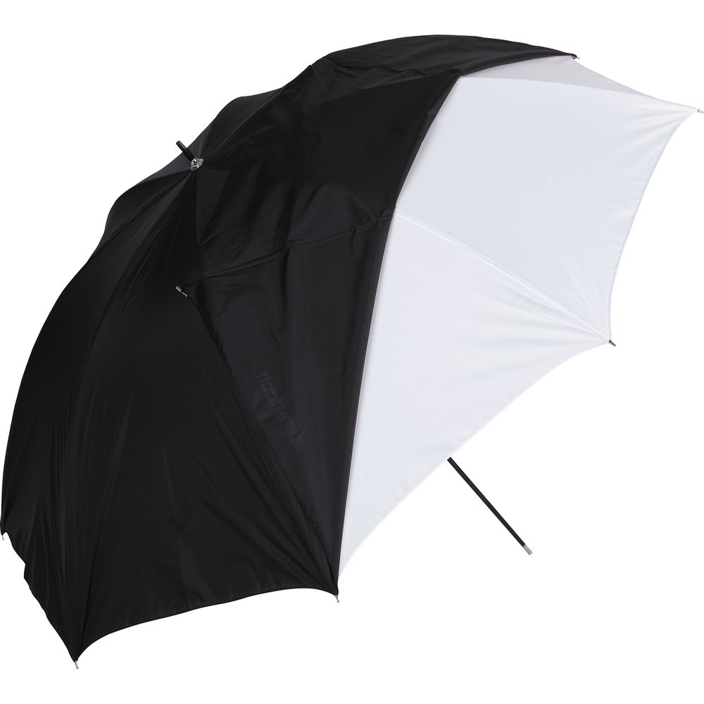 "Westcott Convertible Umbrella - Optical White Satin with Removable Black Cover (32"")"