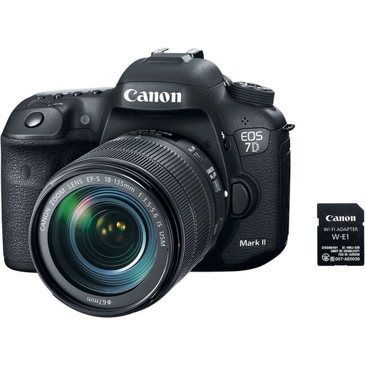 Canon EOS 7D Mark II Camera with 18-135mm IS USM Lens & Wi-Fi Adapter Kit