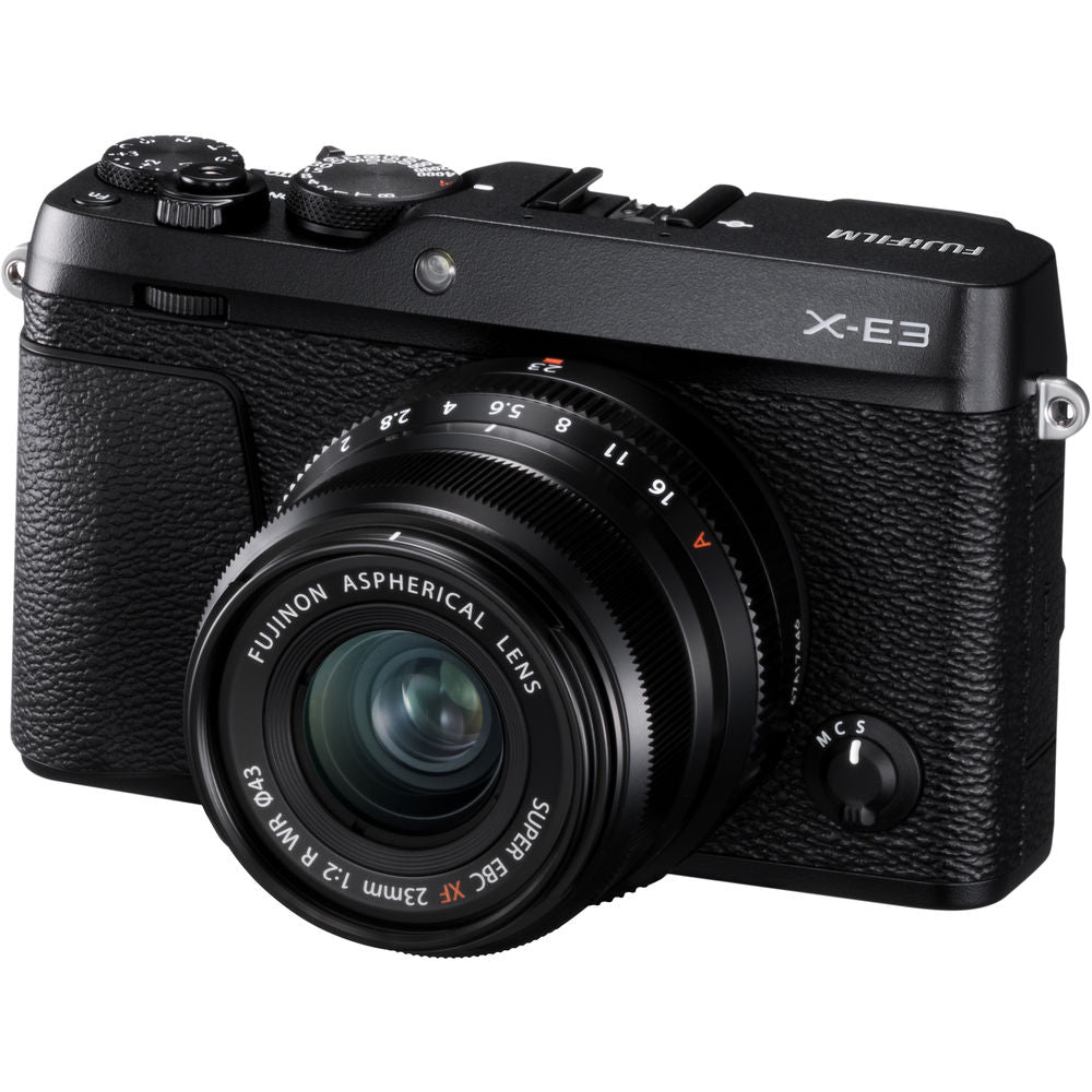 Fujifilm X-E3 Mirrorless Camera (Black) with 23mm f/2 Lens Kit