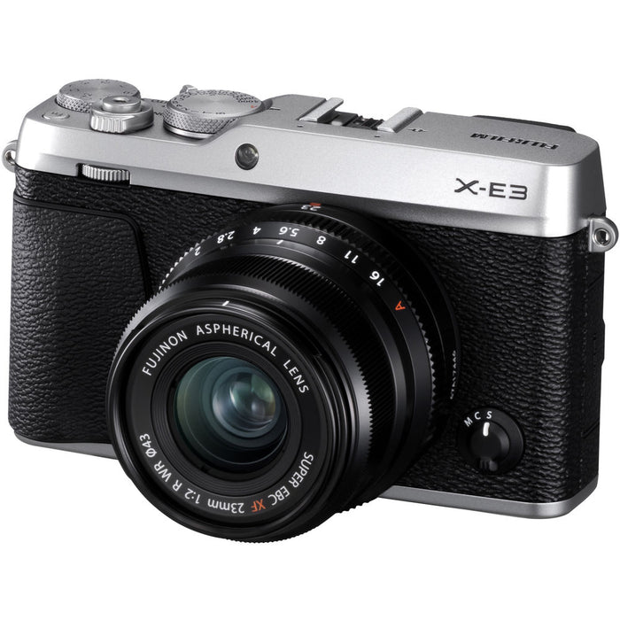 Fujifilm X-E3 Mirrorless Camera with 23mm f/2 Lens (Silver) Kit