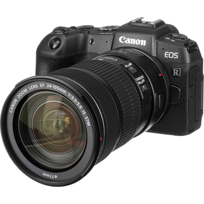 Canon EOS RP Camera with EF 24-105mm Lens and EF-RF Adapter Kit