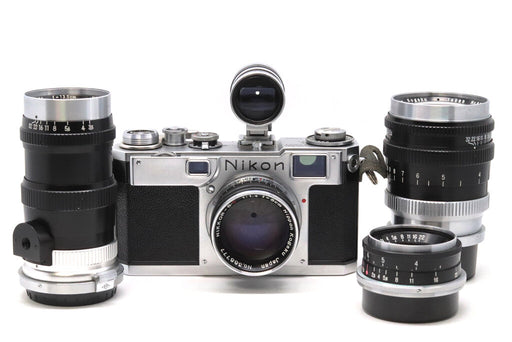 Nikon S2 Black Dial 35mm Rangefinder Camera Outfit