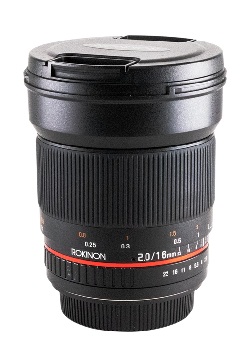Rokinon Manual Focus 16mm f/2 Lens for Canon