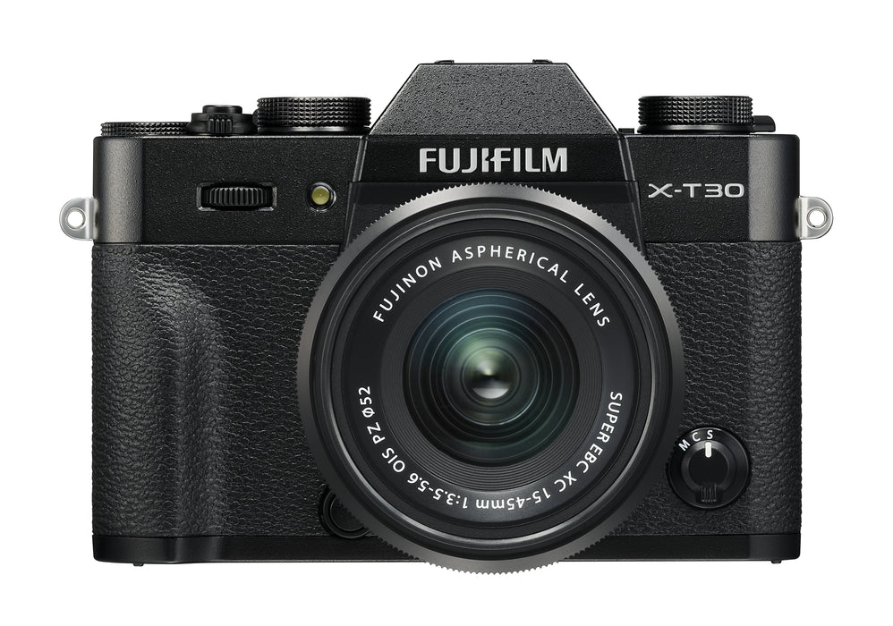 Fujifilm X-T30 Mirrorless Digital Camera with 15-45mm Lens Kit - Black