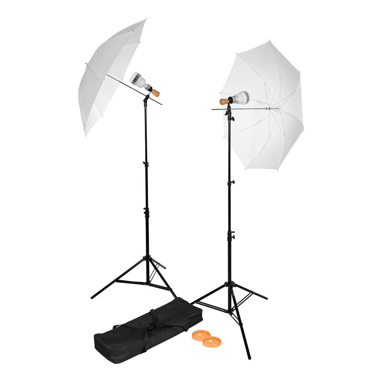 Westcott Basics LED 2-Light Umbrella Kit