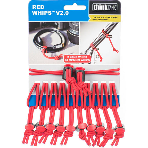 Think Tank Photo Red Whips Bungie Cable Ties V2 Single