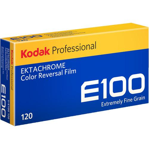 Professional Ektachrome E100 Color Transparency Film 120 Roll Film, 5-Pack
