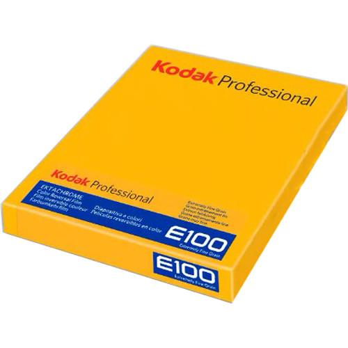 "Professional Ektachrome E100 Color Transparency Film 4 x 5"", 10 Sheets"