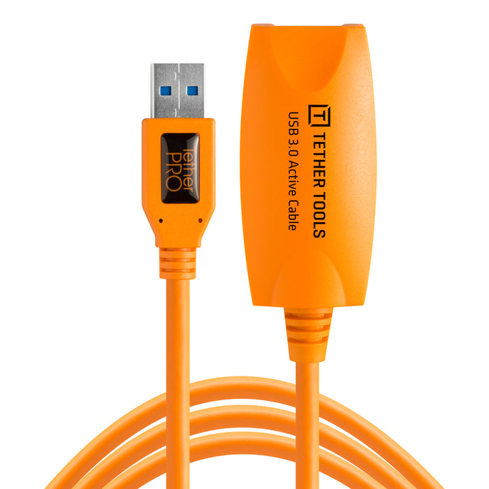 Tether Tools TetherPro USB 3.0 Active Extension Cable - 16 ft, Orange
