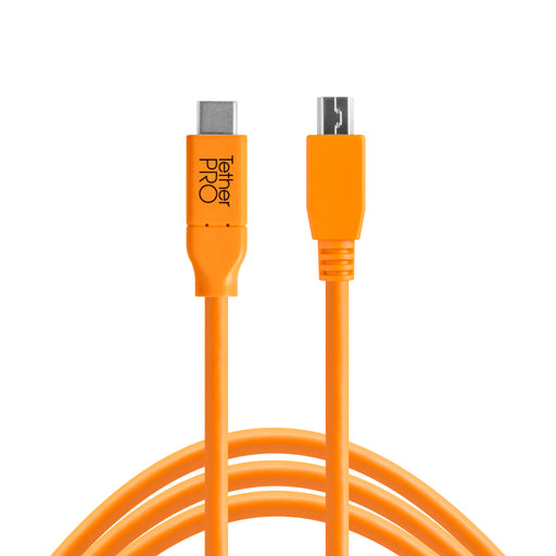 Tether Tools TetherPro USB-C to 2.0 Mini-B 5-Pin - 15 ft, Orange