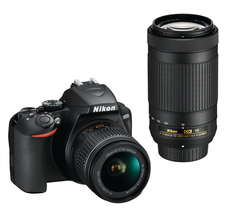 Nikon D3500 with 18-55mm VR & 70-300mm Double Zoom Lens Kit