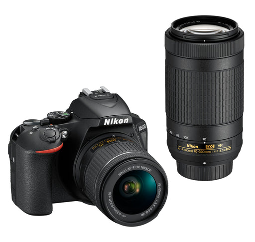 Nikon D5600 with 18-55mm VR & 70-300mm Double Zoom Lens Kit