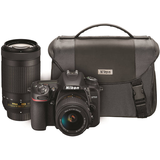 Nikon D7500 DSLR Camera with 18-55mm and 70-300mm VR Lenses Kit
