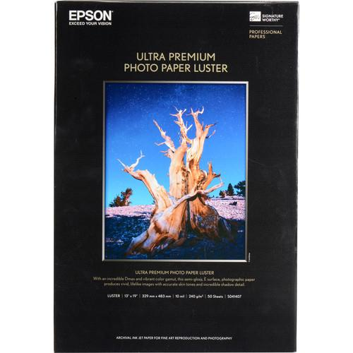 "Epson Ultra Premium Luster 13x19"" 50 Sheets"