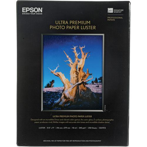"Epson Ultra Premium Luster 8.5x11"" 250 Sheets"