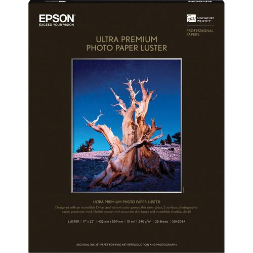 "Epson Ultra Premium Luster 17x22"" 25 Sheets"