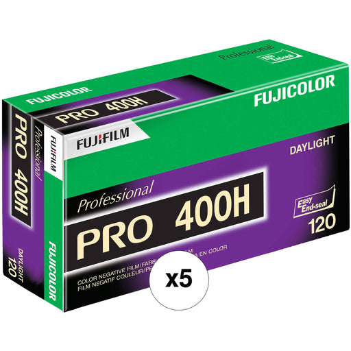 Fujifilm Fujicolor Pro 400H Color Negative 120mm Film, 5 Roll