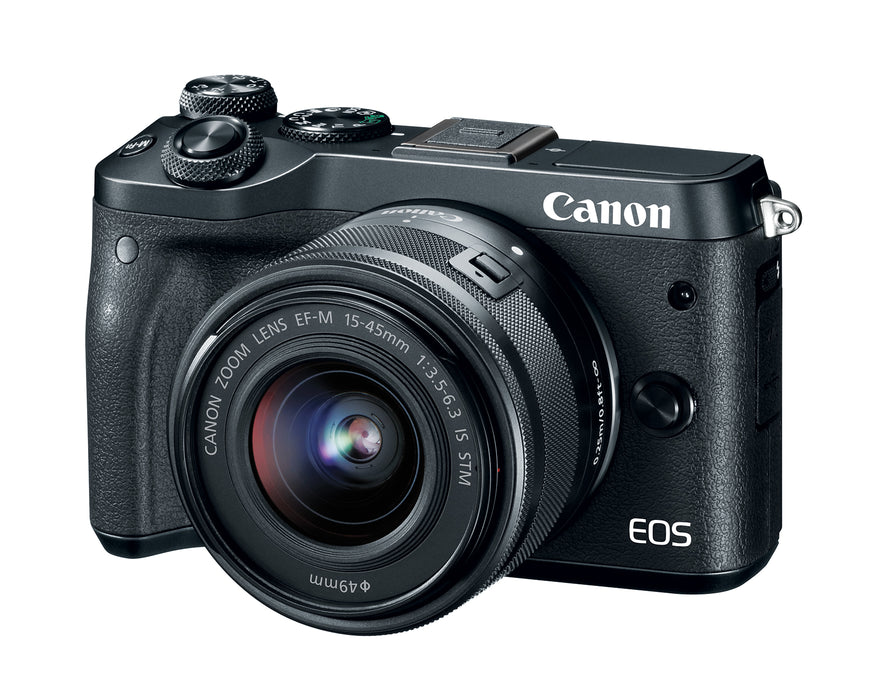 Canon EOS M6 Mirrorless Camera with 15-45mm Lens Kit
