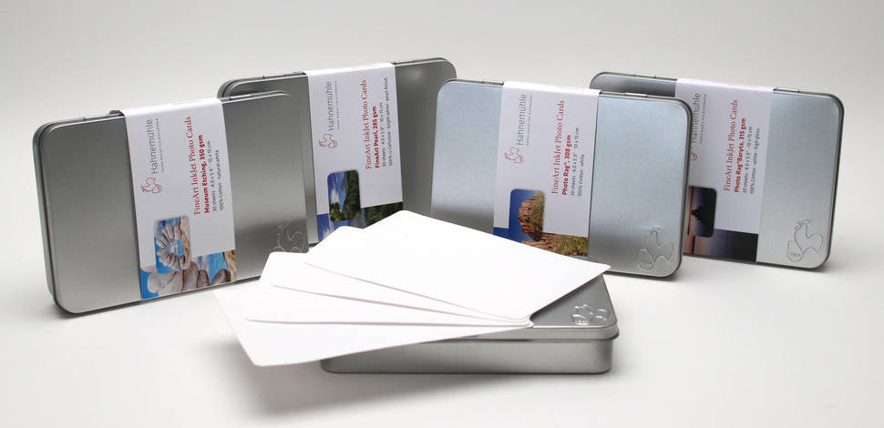 "Hahnemühle FineArt Pearl Photo Cards (5.8 x 8.3"", 30 Cards in Tin)"