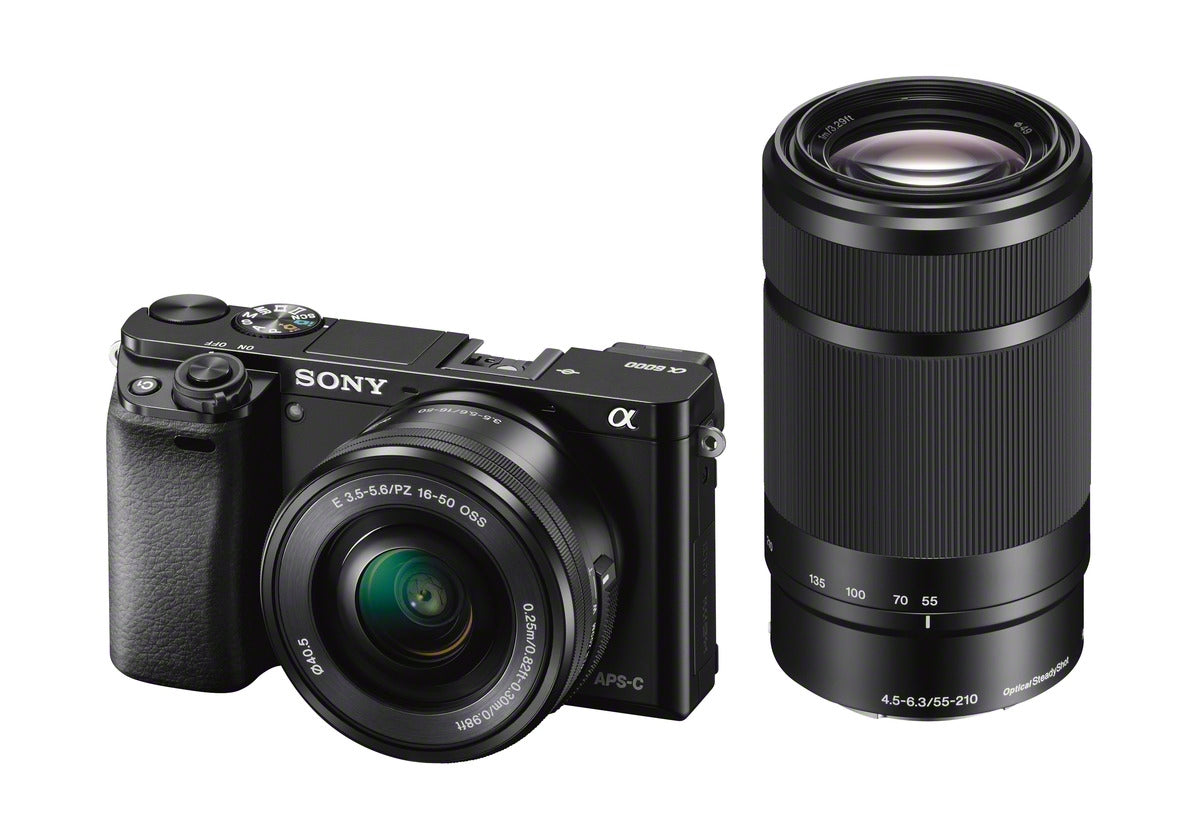 Sony Alpha a6000 Mirrorless Camera + Dual Lens Kit