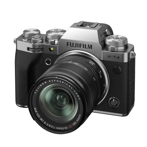 Fujifilm X-T4 Mirrorless Camera (Silver) with 18-55mm Lens Kit