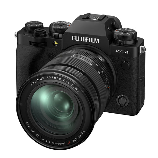 Fujifilm X-T4 Mirrorless Digital Camera with 16-80mm Lens Kit - Black